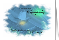 Our Heartfelt Sympathy - Loss Of Brother - Dove in Pastels card
