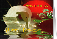 Sister-in-law Happy Birthday / General / Whimsical Swan Emerging card