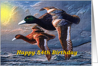 54th Birthday / Mallards Ducks Migrating card