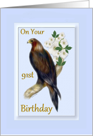 91st Birthday - Wedge Tailed Eagle card