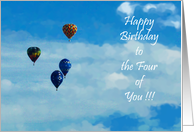Quadruplets Birthday Card