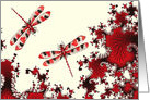 Red Watercolor Dragonfly card