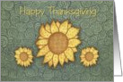 Sunflowers Thanksgivng Card