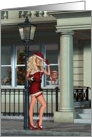 Sexy Mrs. Claus gets a second job..-Humor, Mrs. Claus, elf, Holiday, Christmas, card