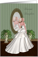 Dearest Daughter (from Mother)-Wedding, Congratulations, Bride, card