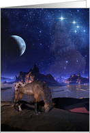 moon, horse, indian spirit, Native American Day, Holiday card
