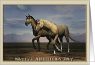 Native American Day, Horses card