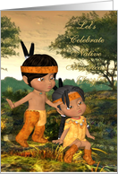 Let's Celebrate Native American Day, Indian Children card