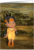 Let's Celebrate Native American Day, Indian Child card