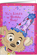 Puppy Birthday Party card