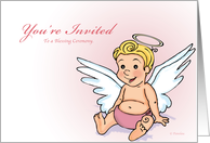 Little Angel - Blessing Ceremony Invitation (Girl) card