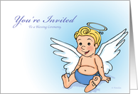 Little Angel - Blessing Ceremony Invitation (Boy) card