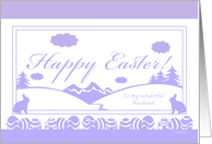 Easter Silhouette - For Husband card
