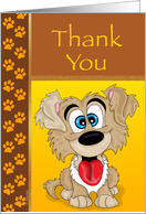 Thank You - Goofy Puppy card