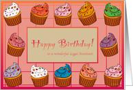 Cupcake Birthday - For Legal Assistant card