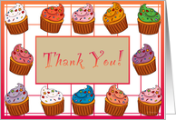 Thank You Cupcakes card