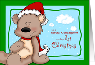 Goddaughter's first Christmas - Teddy Bear card