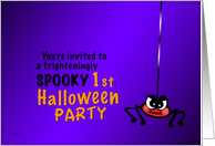 Creepy Spider - Baby's 1st Halloween Party Invitation card