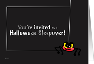 Halloween Sleepover Party Invitation - Creepy Spider card