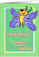 Happy Butterfly - Potty Training card