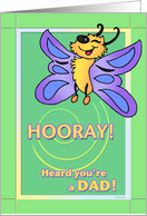 Happy Butterfly - New Dad Congratulations card