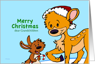 Christmas Card for Grand Kids - Holiday Friends card