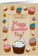 Sweetest Day Cupcakes - for Secret Pal card