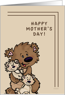 Happy Mother's Day Humor - Brown Bears card
