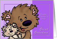 Beary Happy Mother's Day for Great Grandma - Brown Bears card