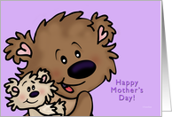 Brown Bears Mother's Day card