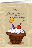Celebration Cupcake - Birthday card for Great Aunt card