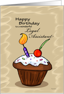 Celebration Cupcake - Birthday card for Legal Assistant card