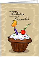 Celebration Cupcake - Birthday card for Coworker card