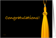 Golden Tassel Congratulations PhD Grad card