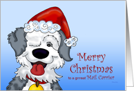 Sheepdog's Christmas - for Mail Carrier card