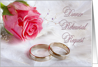 Wedding Rehearsal Dinner Request Invitation card