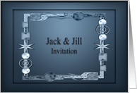 Jack and Jill Party Invitation Modern Design card