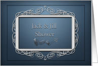Jack and Jill Couples Bridal Shower Invitation card