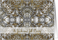 Jack and Jill Invitation, Scroll Gold Silver card