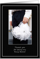 Thank You Ring Bearer- Young Boy Dressed for the Wedding with Rings card