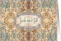 Jack & Jill Shower Invitation, Victorian Design card