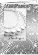 Thank you - Being in my Wedding - Friend - Silver Pearls sparkle card