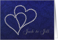 Jack and Jill Invitation - Diamond Hearts Design card