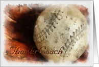 Baseball - Thank you Coach - Softball card
