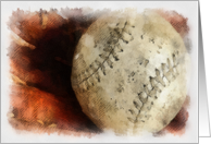 Baseball - Note Card