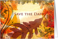 Save the Date - Fall themed card