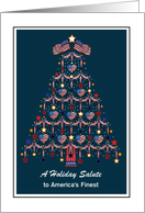 Christmas - USA Military - Patriotic card