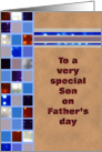 Father's Day - Son -Squares with Bokeh card