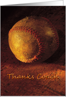 Thank you Coach - Old Worn Baseball card