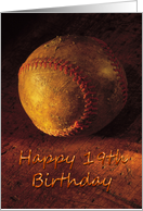 Birthday - 19th - Old Worn Baseball card